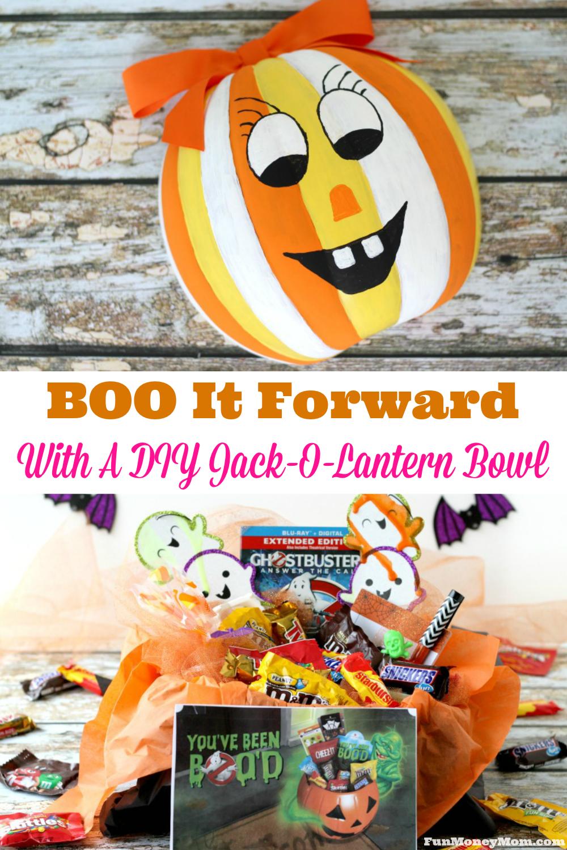BOO It Forward With A DIY JackOLantern Bowl Pumpkin