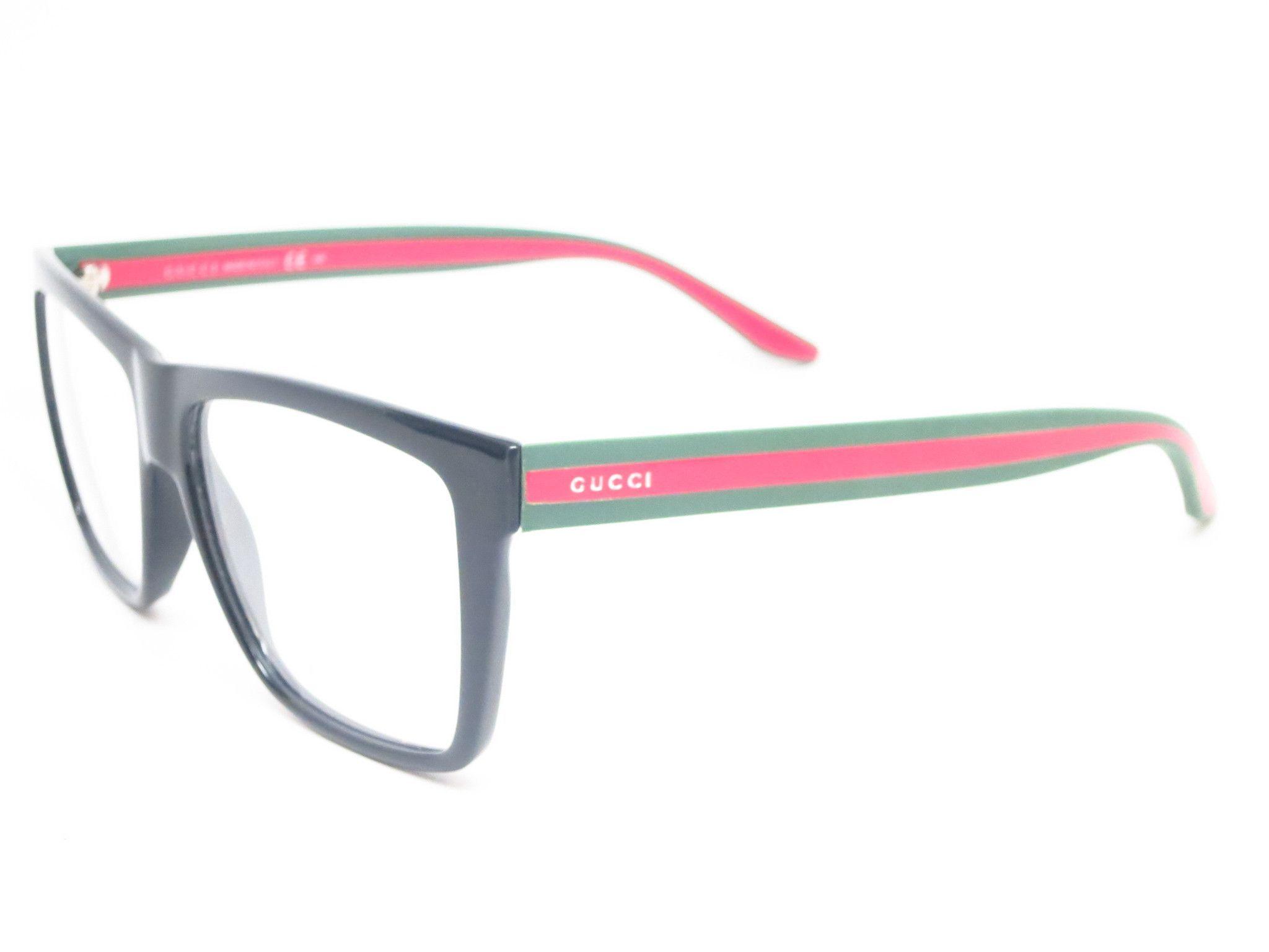 Gucci GG 1008 Black Green Red 51N Eyeglasses | Anteojos