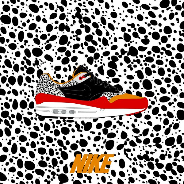 Illustration inspired by the famous Nike Air Max 1 and made