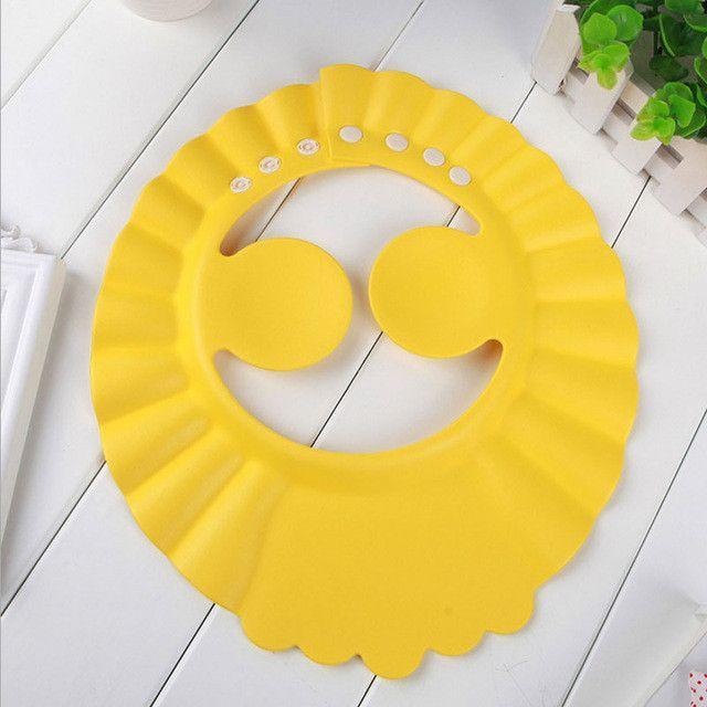 Shampoo Cap Durable Baby Bath Visor Hat Adjustable Baby Shower Protect Eye Water-proof Splashguard Hair Wash Shield For Infant