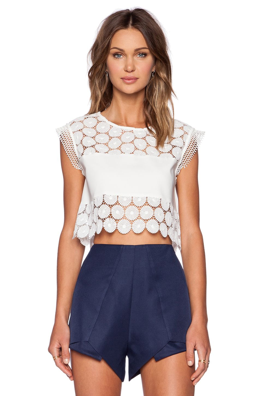 Alexis Stellan Crop Top In White Flower Fashion Pinterest Fashion