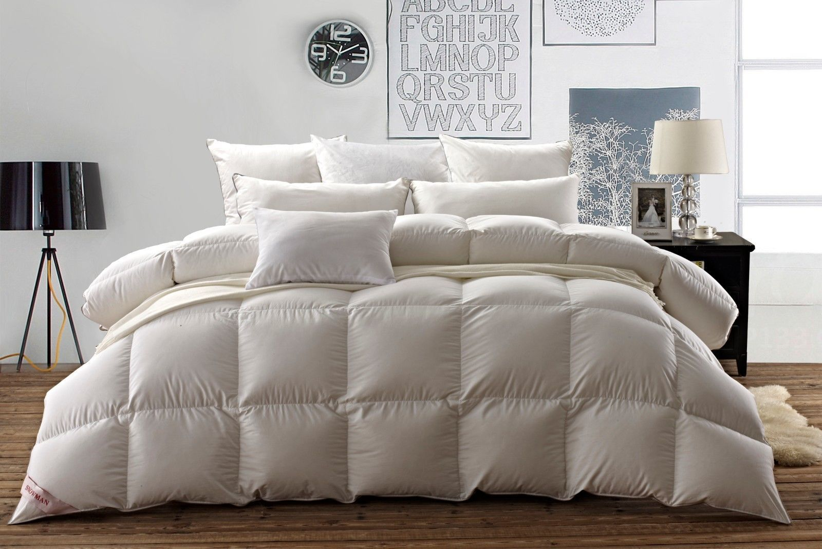 Snowman Soft White Bafflle Box Goose Down Duvet 100 Egyptian Cotton Shell Queen Down Comforter Duvet Comforters White Down Comforter