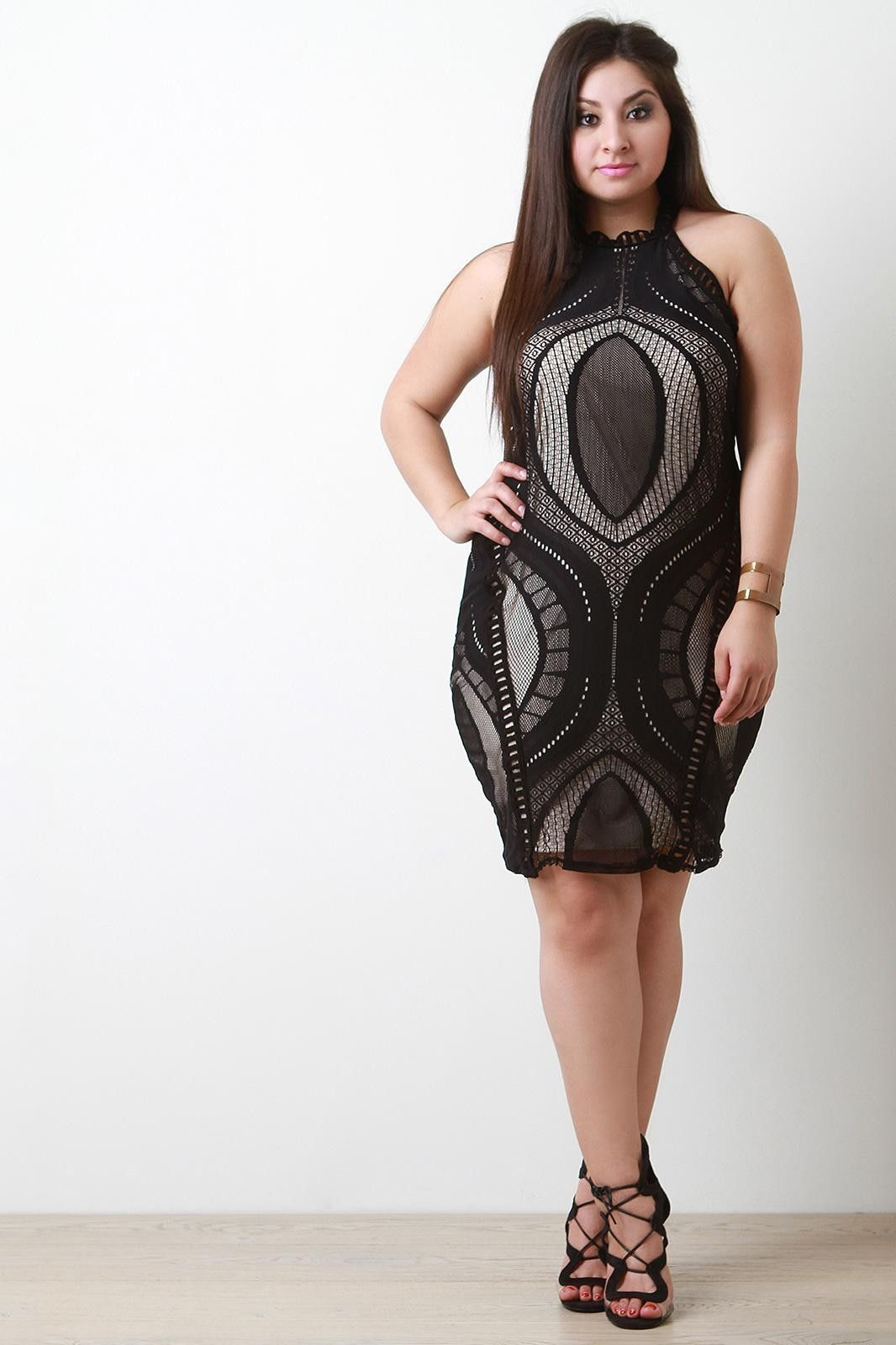 Ogee Lace Halter Dress
