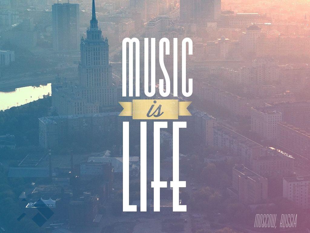 Music Is Life Wallpaper Desktop Mobile Iphone 5 Compatible