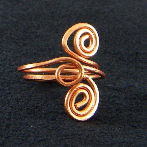 AmeliaOriginals on Artfire #ring #Handmade #Copper #Wire #Scultpured ...