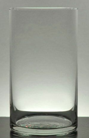 Cylinder Glass Vases Contemporary 6in Wedding And Weddings
