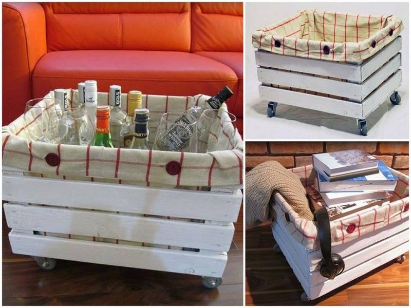 Cassetta porta oggetti con rotelle cose da creare for Ikea cassetta legno