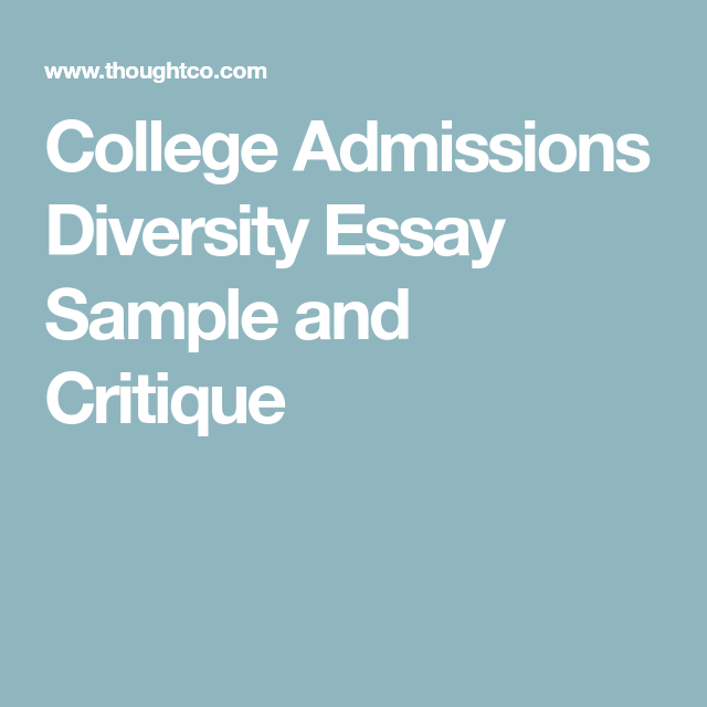 Best college admissions essays diversity