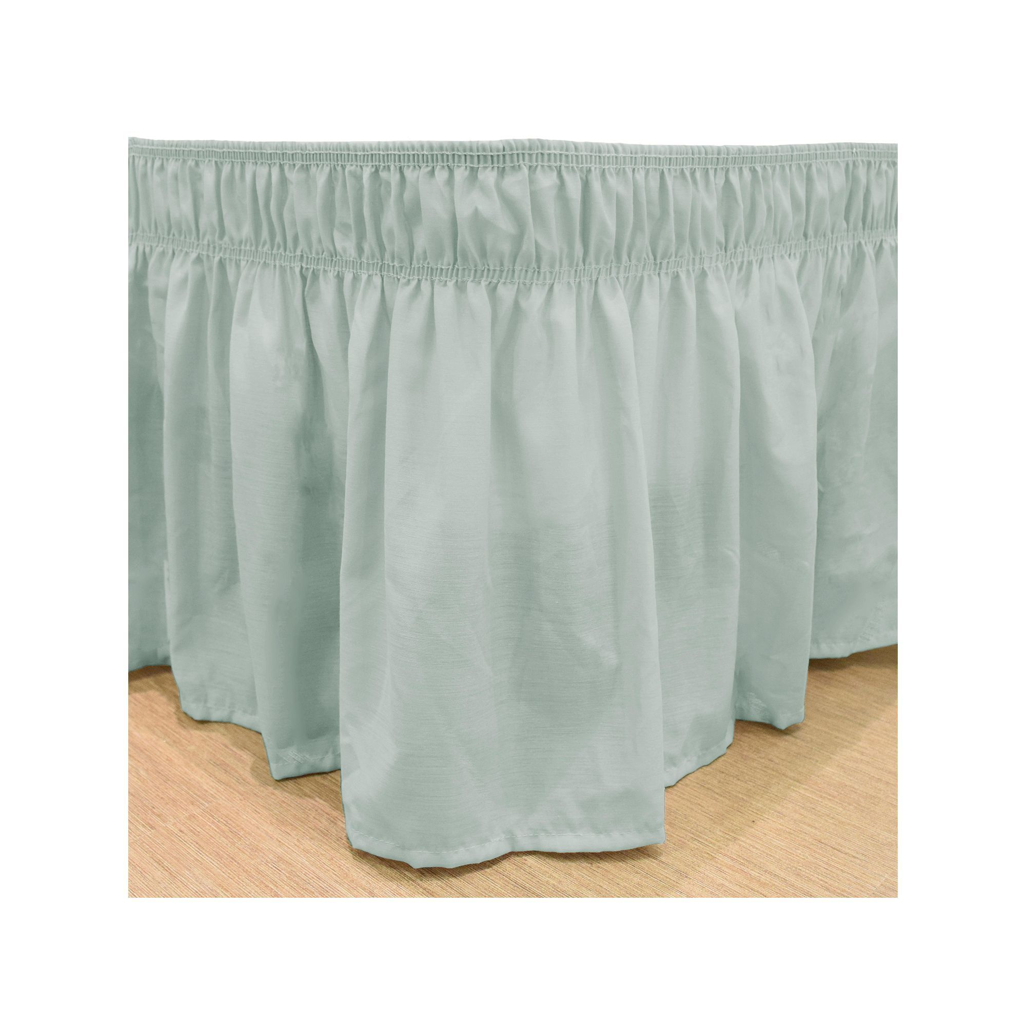 easyfit wrap around solid ruffled bed skirt beig green beig khaki