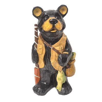 High Quality Infinity Fishing Bear Garden Statue