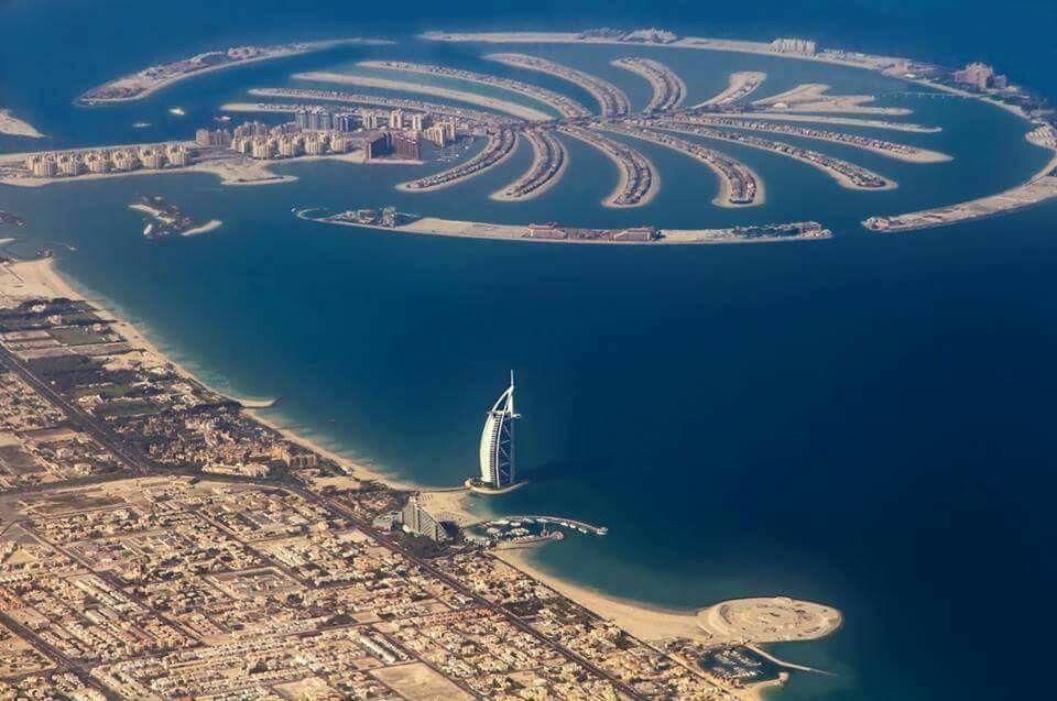 Dubai.  #Palm island #burjal Arab.  One awesome pic