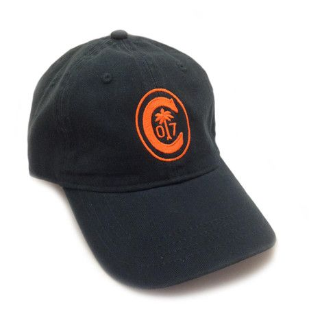ab2eb31f309 Clemson Ring Crest Hat in Navy - Orange Thread