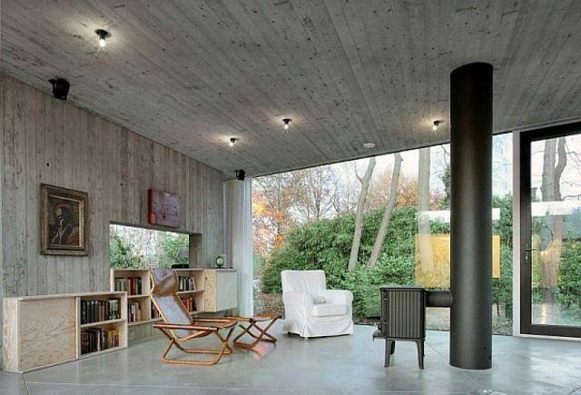 moderne Architektur Landhausstil einrichten Holz Interieur - huser moderner landhausstil einrichtung