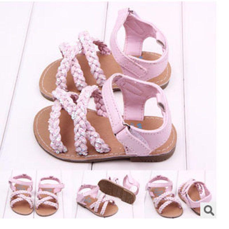 Baby sequins sandals Outdoor hard
