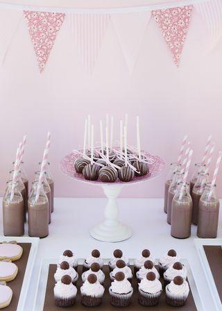 Mini Dessert Table Mini Desserts Hot Chocolate Party Chocolate Party