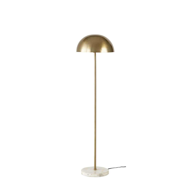 Stehlampe Aus Goldenem Metall Und Weissem Marmor H142 Marbre Blanc Lampadaire Lampe Sur Pied