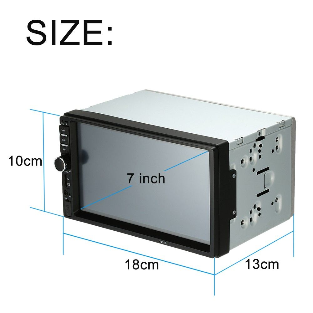 Only US$65.82, black 7 inch2 Din HD Car Stereo FM Radio MP5 - Tomtop.com