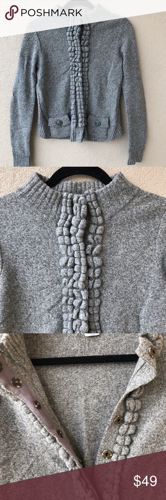 Anthropologie Moth Gray Floating Sparks Sweater Thick and cozy ...
