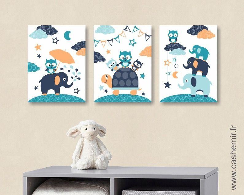 illustration pour enfant garçon, décoration chambre bébé affiche ...