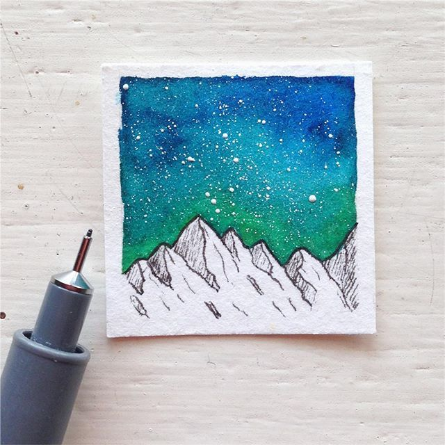 Sevaneparoyan Galaxy Painting Fineliner Art Watercolor Art Diy