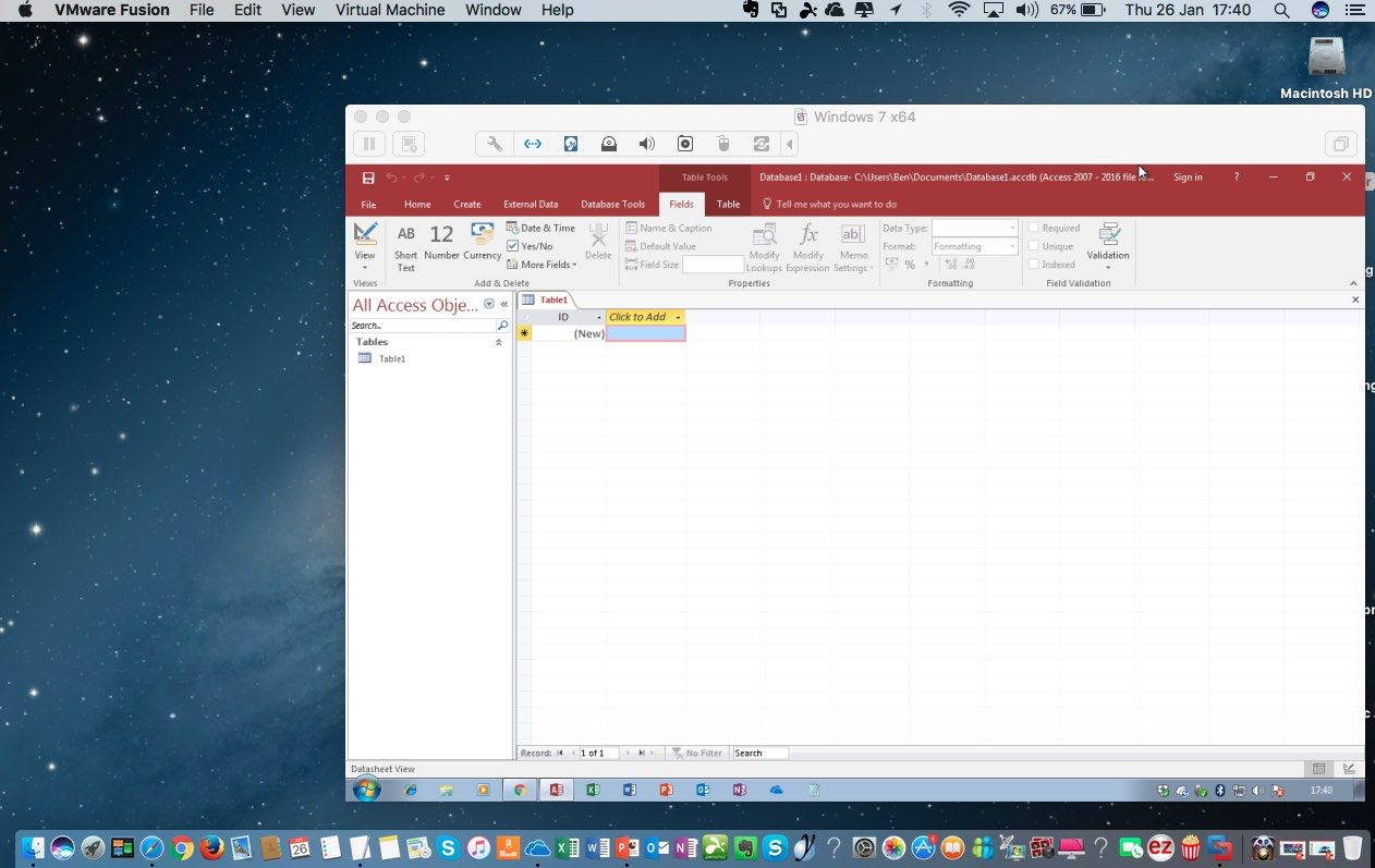 ms access for mac