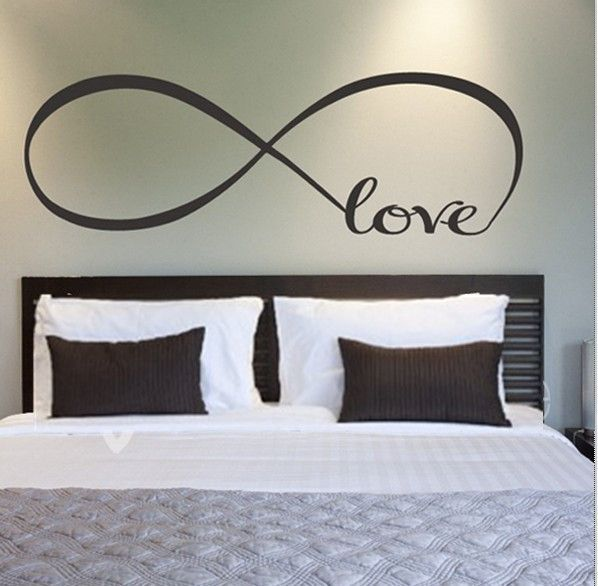 Infinity Symbol Forever Wall Stickers Home Decor Bedroom Vinyl Removable Decals Simple Style