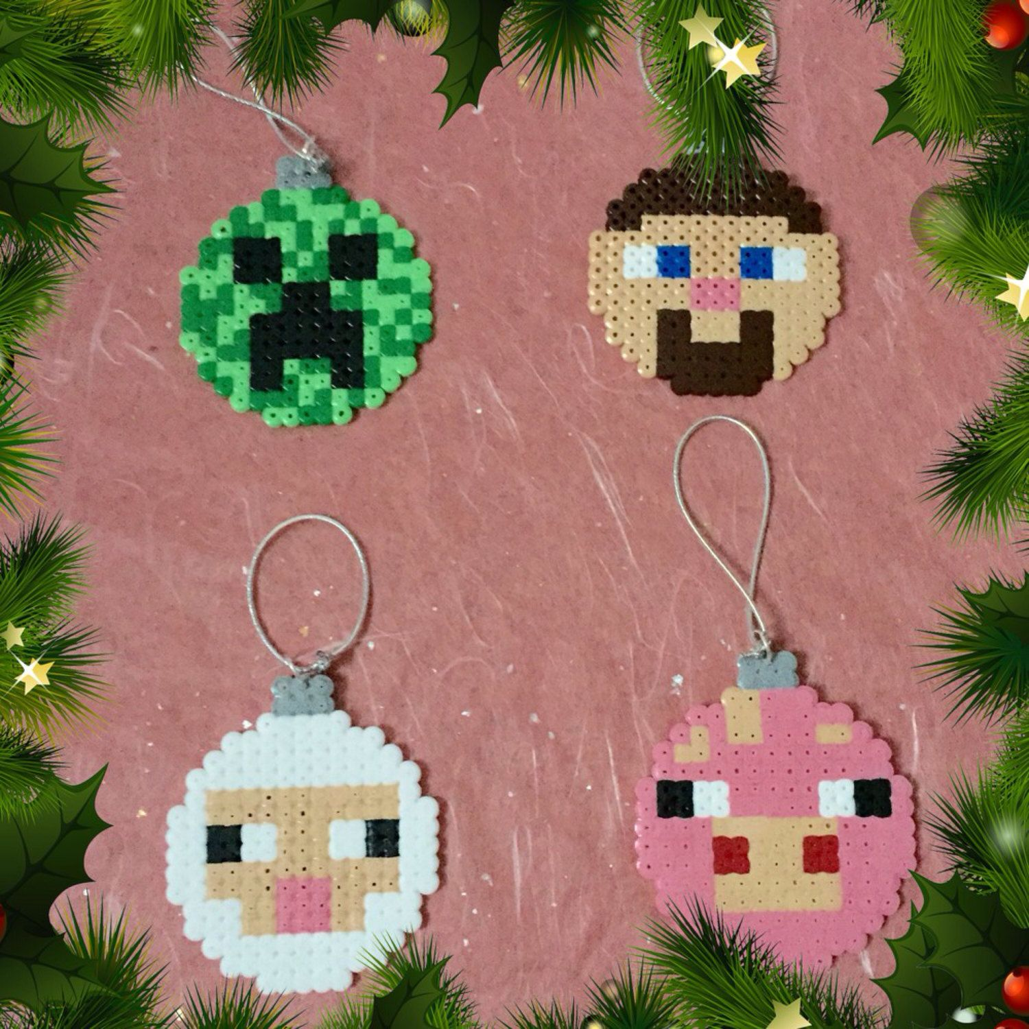 how to make minecraft christmas baubles