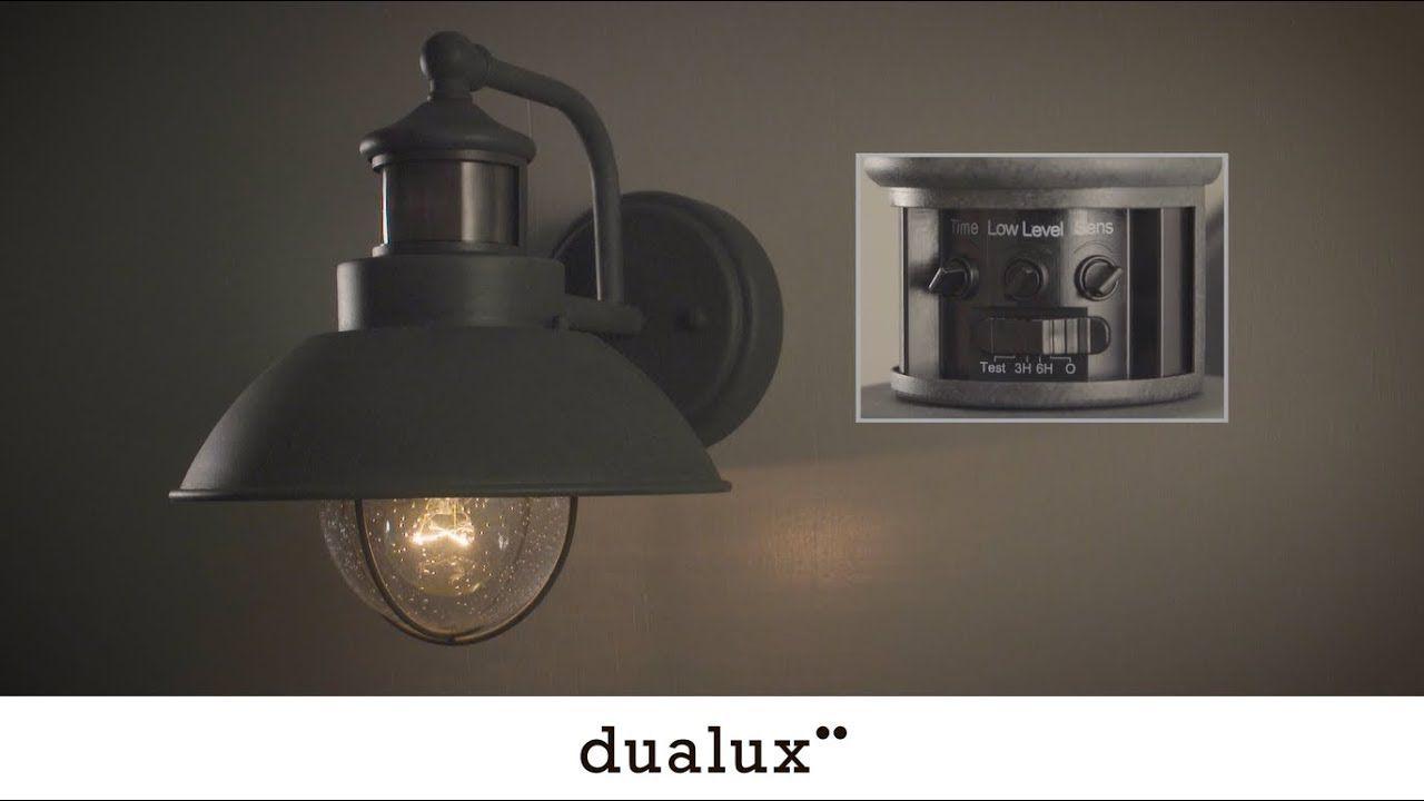 How to set vaxcel dualux outdoor light fixtures