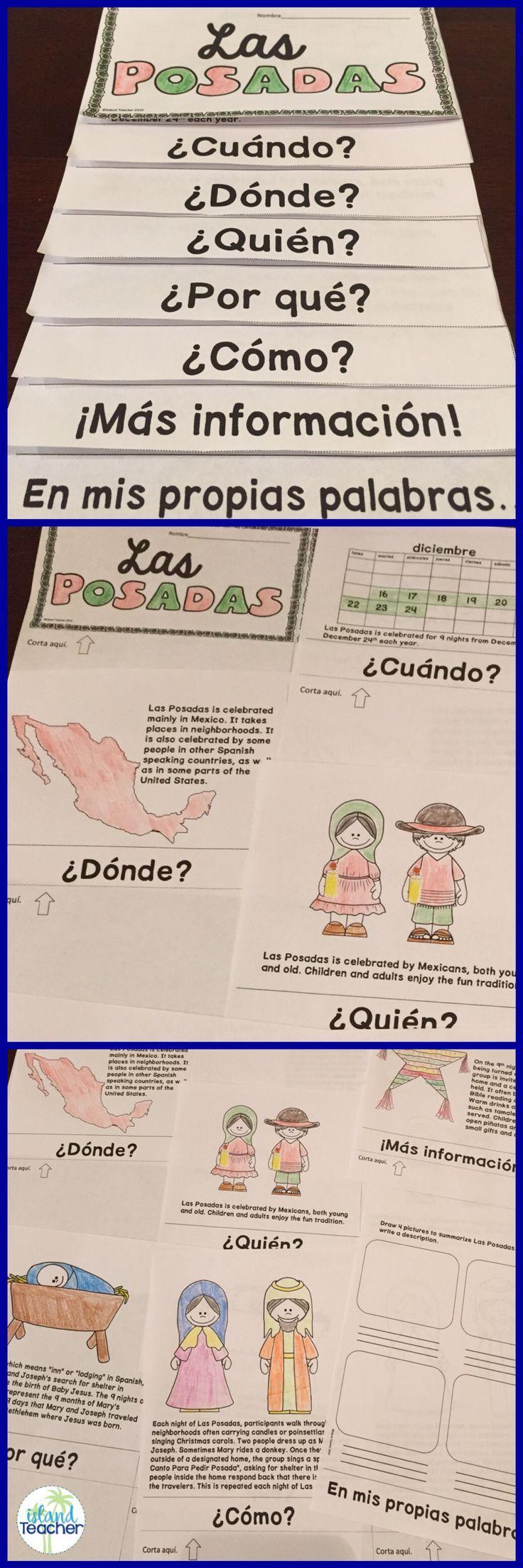 Workbooks las posadas worksheets : Las Posadas Flip Book | Flip books, Spanish and Flipping