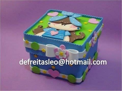 En fomy ideas manualidades en fomy goma eva pinterest - Manualidades cajas decoradas ...