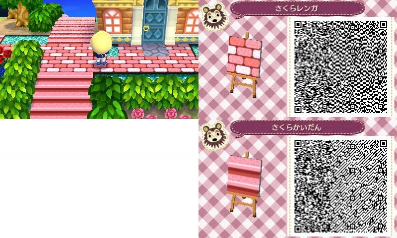 Quot P Quot Animal Crossing Stone Paths And Pink Stone