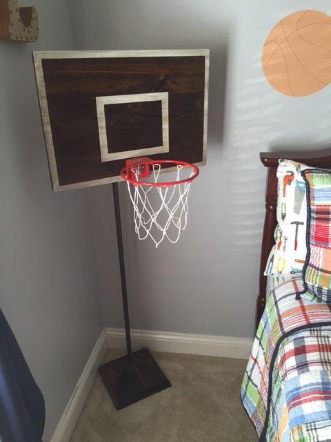 Vintage Designed Basketball Hoop System Basketball Decor Stand Etsy Basketball Themed Bedroom Sports Themed Room Kids Sports Room