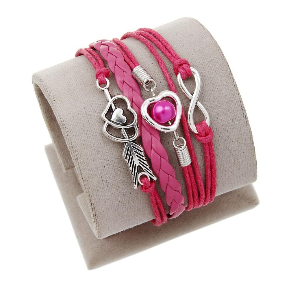 Hot men jewelry love owl charm bracelets anchor leather bracelet