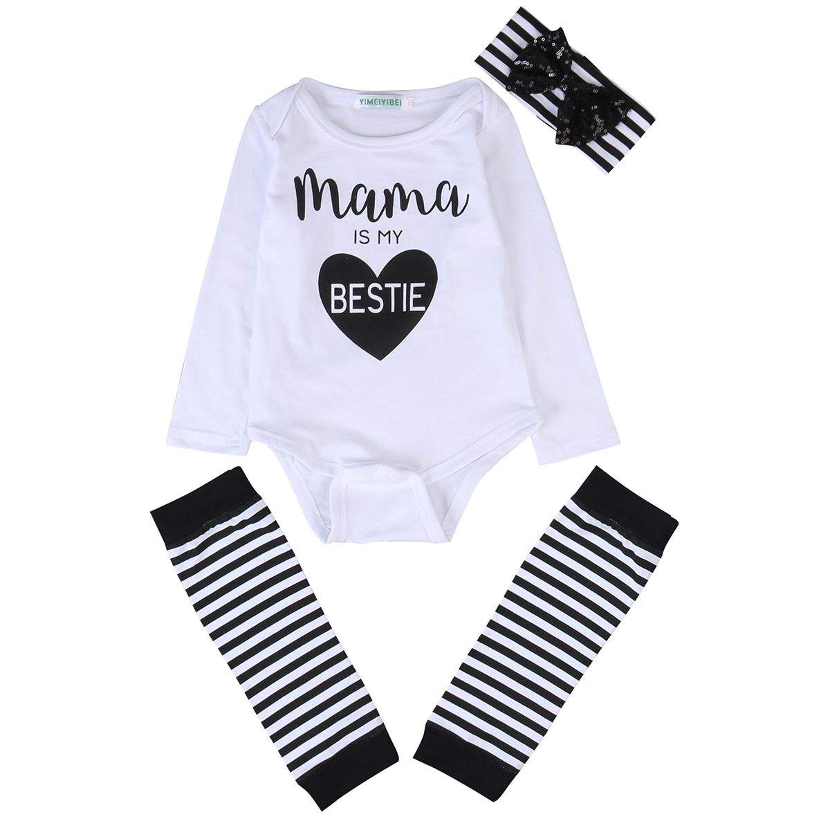 ab46e467f02 Click to Buy    3 Pcs Newborn Baby boys girls letter Bodysuits Onesie  Clothing Set Babies Bodysuit+Leg Warmer+Headband Outfits Kids Clothing   Affiliate