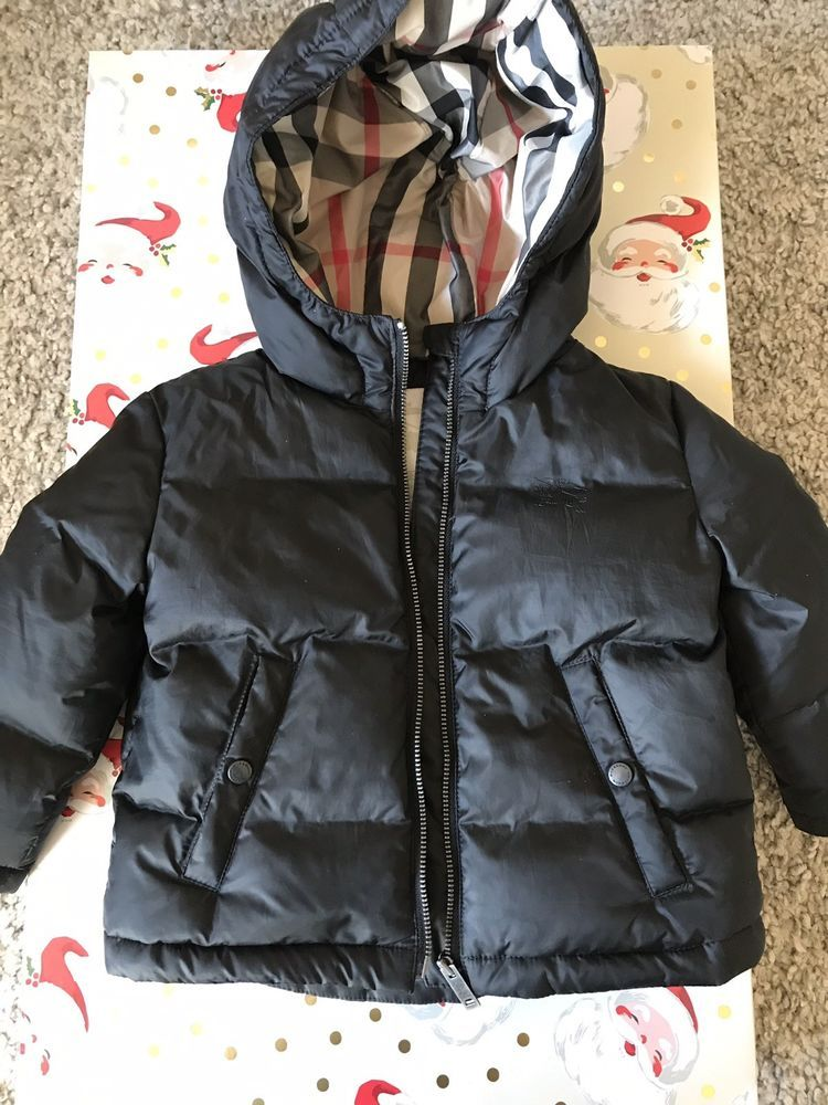 bf03fdd297a7 Burberry Childrens Puffer Coat With check lining size 12 Months ...