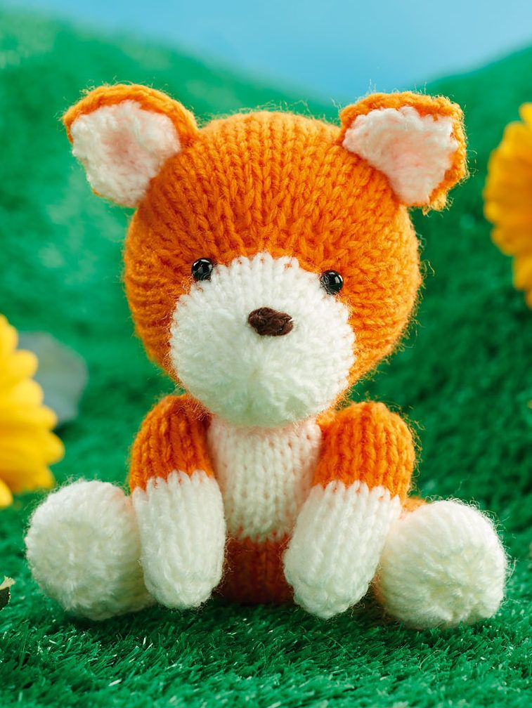 Free Knitting Pattern For Fox Toy Toy Amigurumi Finley The Fox