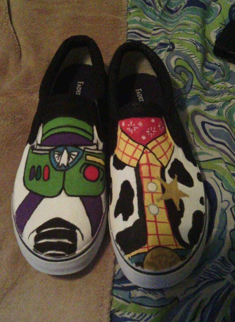 Toy Story Shoes for Bethann :)  by ~ncisusmc017  Artisan Crafts / Miscellaneous
