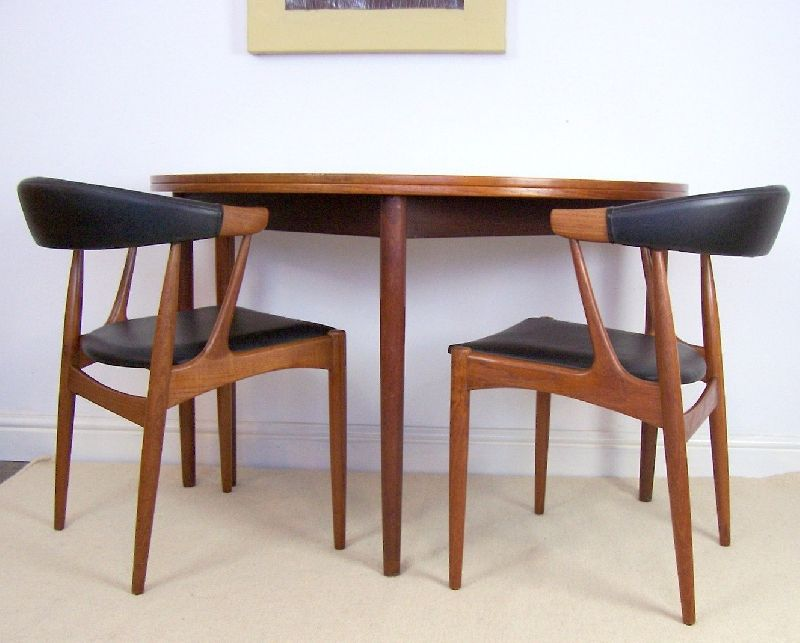 Danish Teak Table By Poul Volther For Frem Rojle Half Moon Fold Over Table