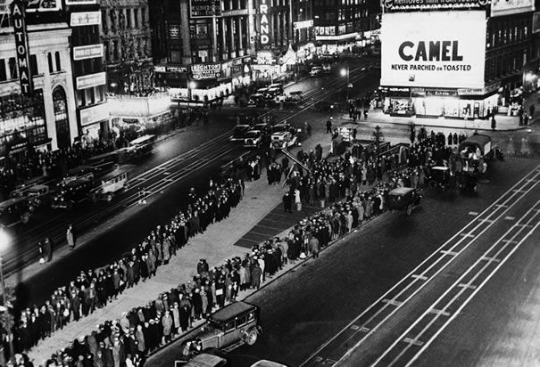 Times Square Breadline. Cities in the North were the first to feel ...