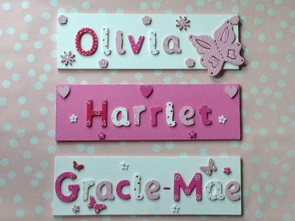 CHILDREN KIDS WOODEN NAME PLAQUE Personalised Bedroom Boy Girl Door Wall  Sign. CHILDREN KIDS WOODEN NAME PLAQUE Personalised Bedroom Boy Girl