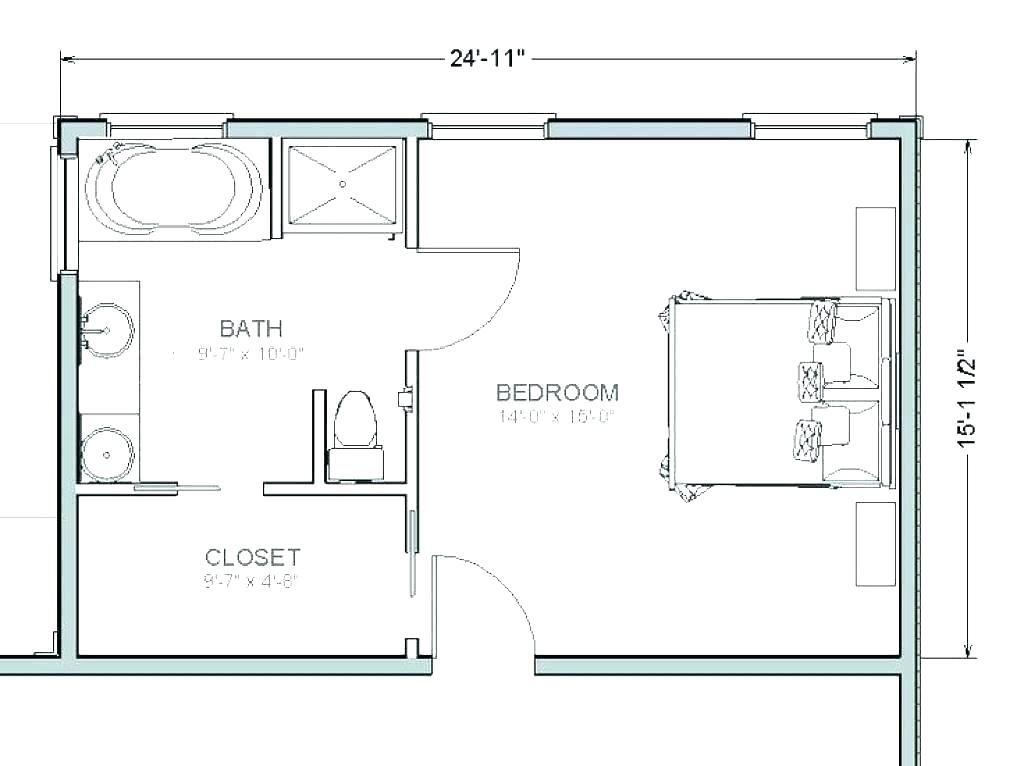 Master Bathroom Floor Plans With Walk In Closet Master Bathroom
