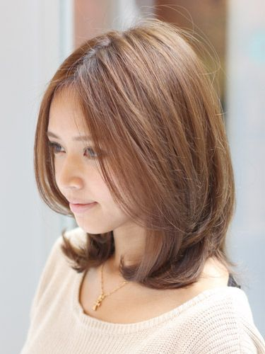 ワンカールアールストレート ミディアム ビューティーboxヘアカタログ ヘアスタイル ヘアスタイリング 髪型