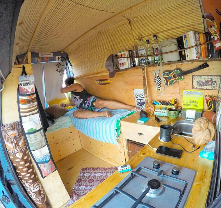 Awesome Van Build Layout I Like The Shape Of Bed In This Camper