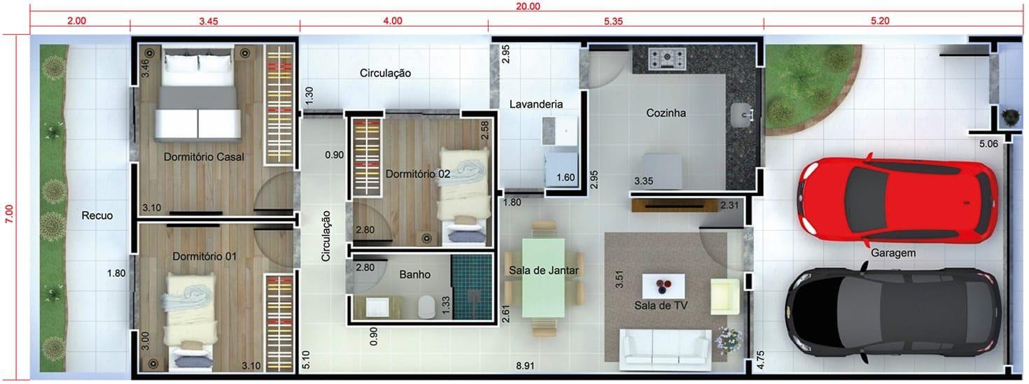 Casa con una fachada en blanco y negro plano para terreno for Casas con planos y fotos