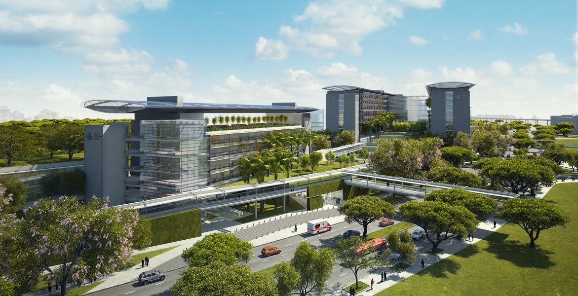 Perkins Gt Jurong Hospital Photorealistic Exterior