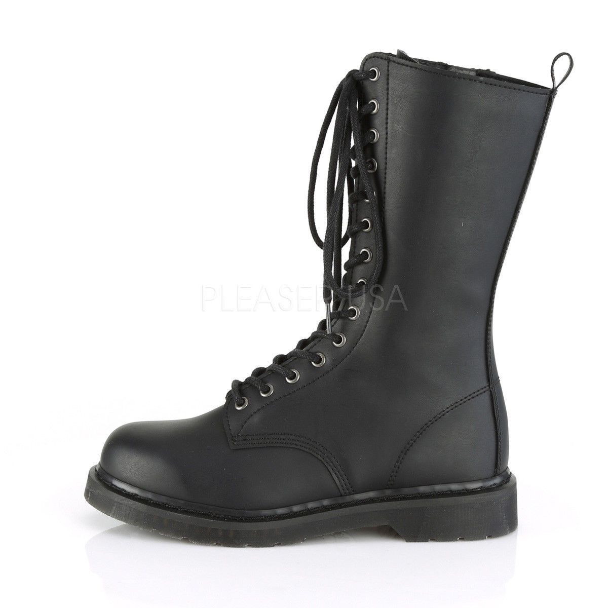 Bolt 300 Goth Combat Biker Boots Black Matte Men Sizes 4 14 Vegan Boots Boots Biker Boots
