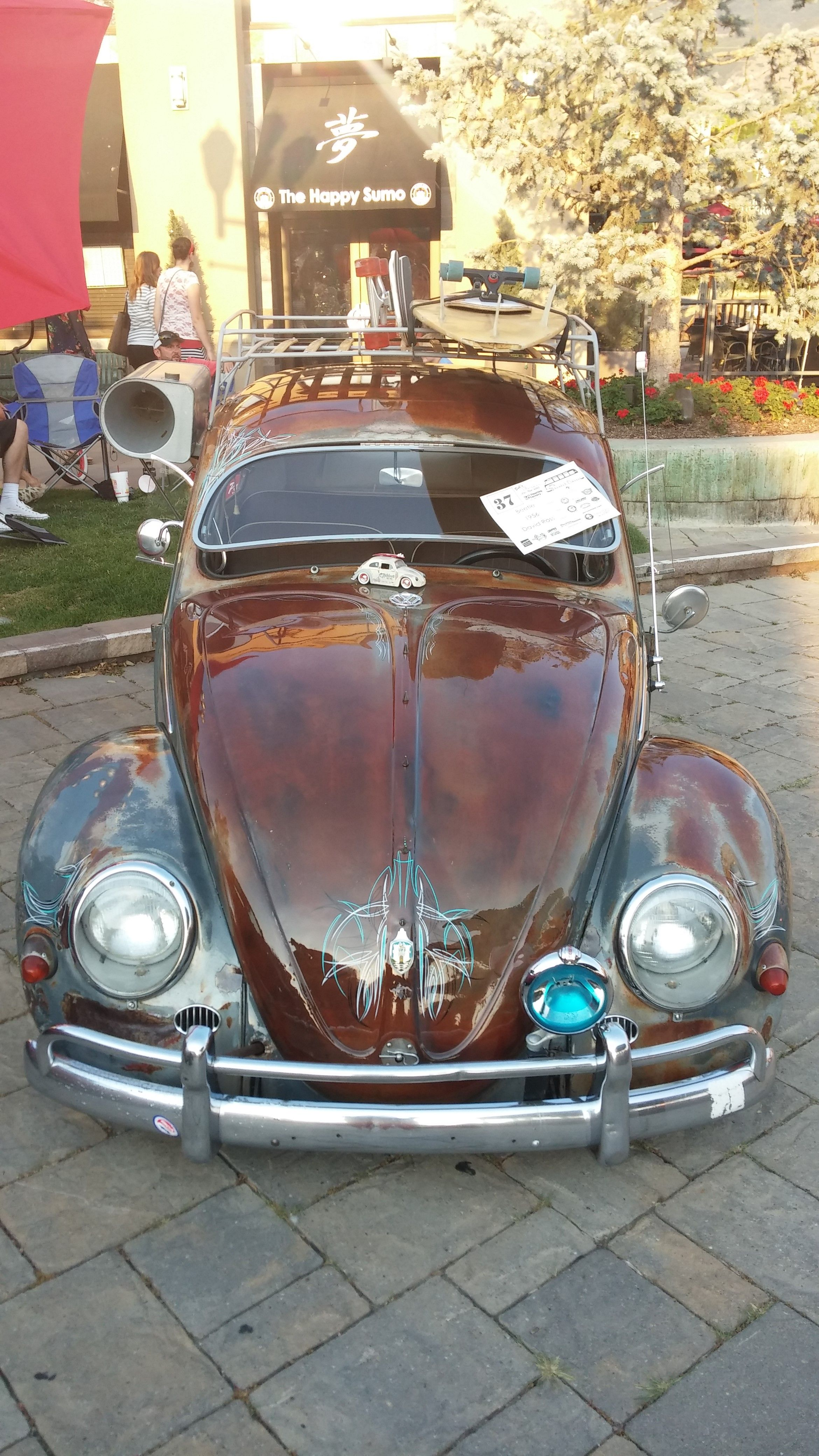 Dave Ross VW Beetle Clear Coat Patina @ Wasatch Classic VW show in ...