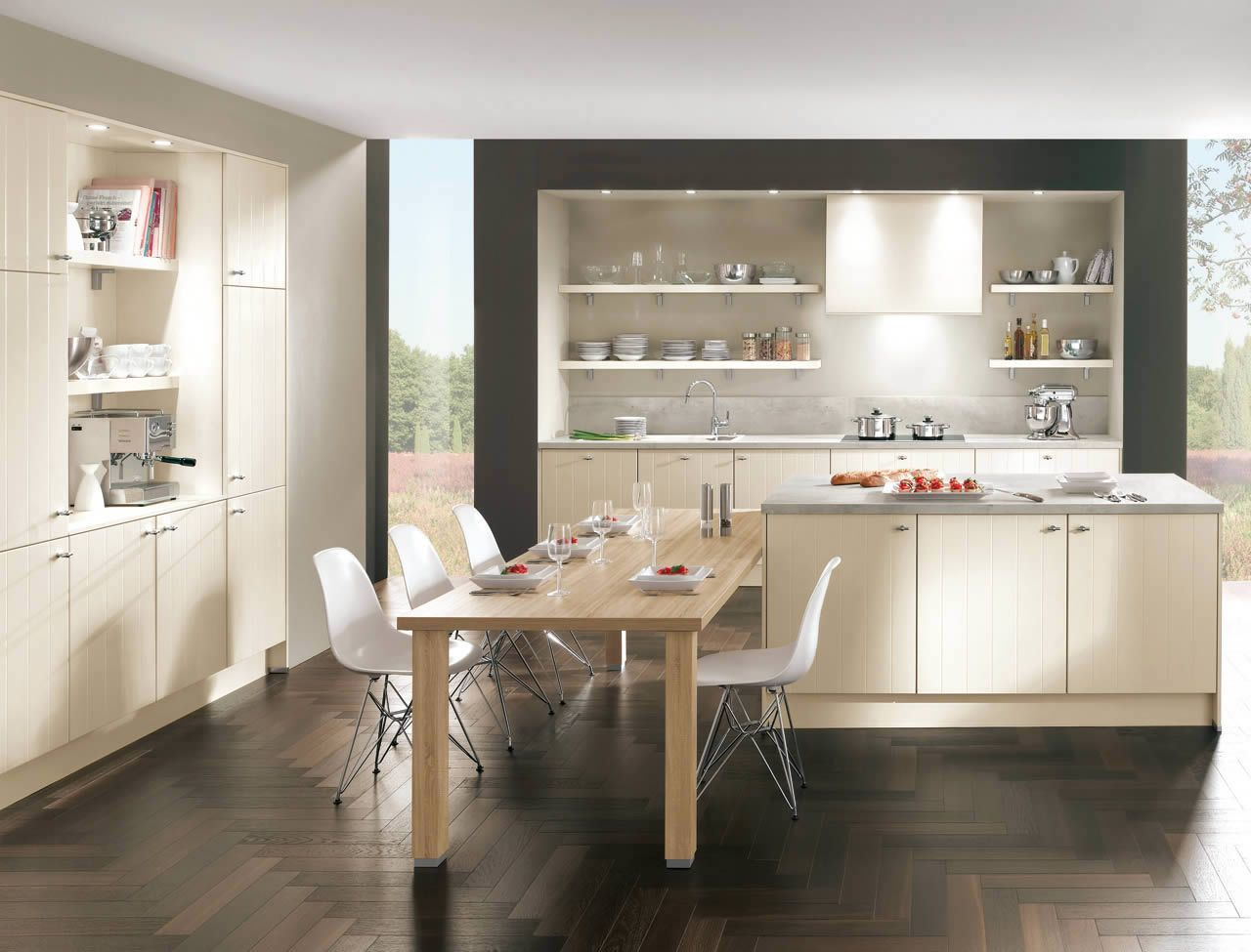 Nobilia Credo Front Flair 424 Laquer Ivory Matt Palazzo Kitchens Accessories