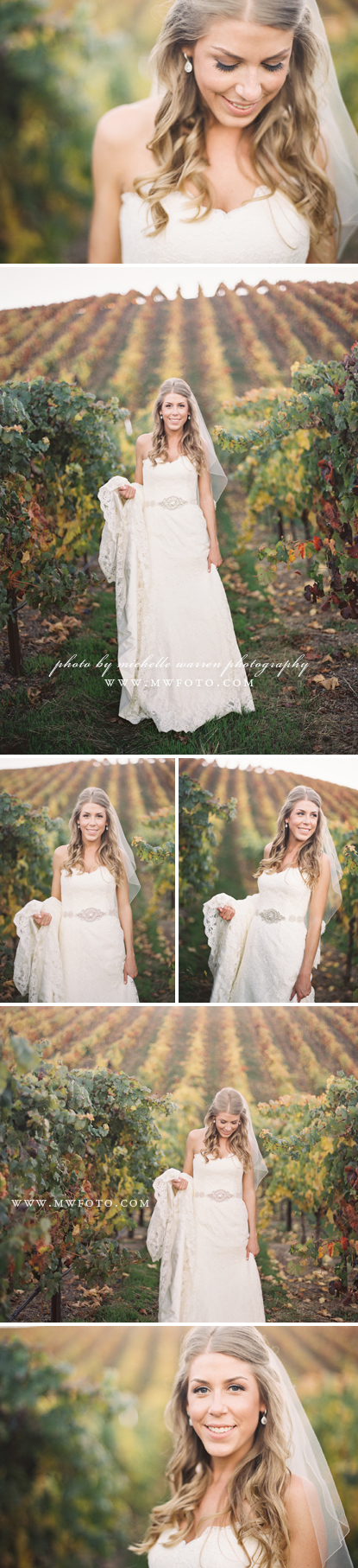 Vineyard Wedding Beautiful Bridal Portraits by Michelle Warren Photography    #vineyardwedding #bridalportraits #beautifulbride #wedding #winerywedding #murrietaswell #livermorewedding #weddingphotographer #weddingphotography #michellewarrenphotography