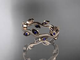14k vine anniversary rings